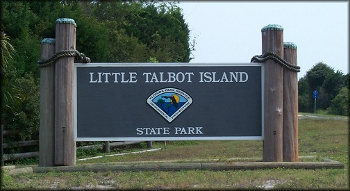 Little Talbot Island Park Entrance Sign