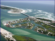 Aerial View Of Matanzas Inlet