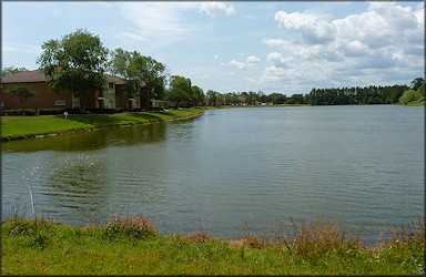 North end of the lake at Country Club Lakes Apartments looking south